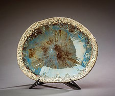 Oceanic Serving Bowl by Valerie Seaberg (Ceramic Bowl)