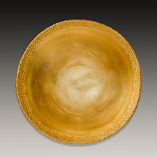 Gold Leaf Porcelain Bowl by Valerie Seaberg (Ceramic Bowl)