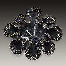 Night Bloom by Valerie Seaberg (Ceramic Sculpture)