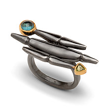 Metro Gemstone Ring by Alison Antelman (Gold, Silver & Stone Ring)