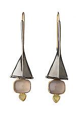 Tri-Form Earrings by Alison Antelman (Gold, Silver & Stone Earrings)