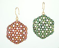 Medallion Earrings by Kathy King (Beaded Earrings)