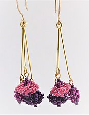 Beaded Trio Earrings by Kathy King (Beaded Earrings)