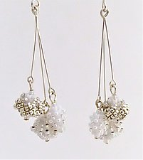 Beaded Trio Earrings by Kathy King (Beaded Earrings)