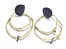 Eclipse Earrings by Leia Zumbro (Silver & Brass Earrings)