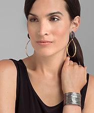 Pod Teardrop Earrings by Leia Zumbro (Gold & Silver Earrings)