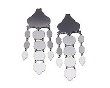 Ombre Chandelier Earrings by Ashley Buchanan (Brass Earrings)
