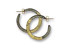 Steel and Hoop Earrings by Susan Ronan (Gold & Steel Earrings)