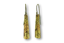 Water Flow Earrings by Susan Ronan (Gold & Steel Earrings)