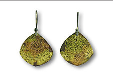 Water Song Earrings by Susan Ronan (Gold & Steel Earrings)