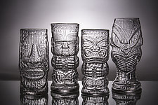 Glass Tiki Mugs by Andrew Iannazzi (Art Glass Drinkware)
