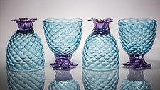 Set of Four of Small Piña Glasses by Andrew Iannazzi (Art Glass Drinkware)
