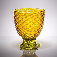 Medium Piña Glass by Andrew Iannazzi (Art Glass Drinkware)