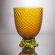 Large Piña Bowl by Andrew Iannazzi (Art Glass Bowl)