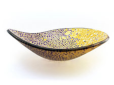 Nido 10 Eggplant and Amber Bowl by Joseph Enszo (Art Glass Bowl)