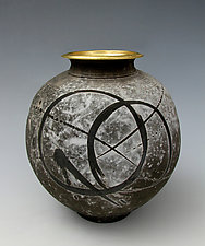 Cosmic Rings by Tom Neugebauer (Ceramic Vase)