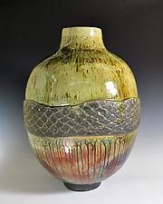 The River Catch by Tom Neugebauer (Ceramic Vase)