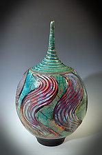 Deep Swirl Vase by Tom Neugebauer (Ceramic Vase)