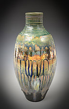 Blue Rain Luster Vase by Tom Neugebauer (Ceramic Vase)