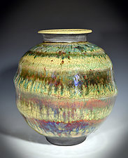 Color Spiral Vase by Tom Neugebauer (Ceramic Vase)