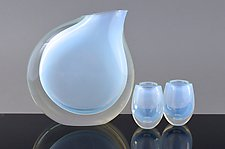 Pitcher Set in Opaline by Marc Carmen (Art Glass Sculpture)
