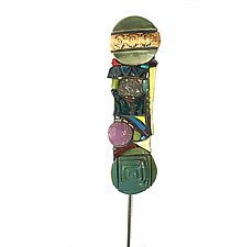 Messiah Garden Totem by Cathy Gerson (Ceramic Sculpture)