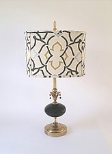 Moroccan Table Lamp by Mollie Woods (Mixed-Media Table Lamp)