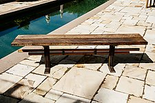 Thunderbird Bench by Wes Walsworth (Wood Bench)