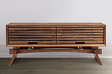 Stratus Media Console by Wes Walsworth (Wood Cabinet)