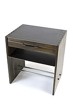 Floyd Nightstand by Wes Walsworth (Wood & Steel Side Table)