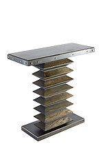 Zig Zag Console Table by Wes Walsworth (Wood & Steel Console Table)