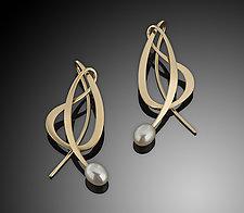 14K Dancing Pearl Earring by Ben Dyer (Gold & Pearl Earrings)
