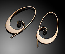 Designer Hoops by Ben Dyer (Gold Earrings)