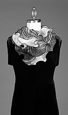 Infinity Scarf in Black and White by Min Chiu  and Sharon Wang  (Silk Scarf)