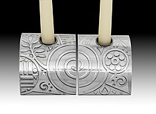Fern Spirals Candle Stands by Evy Rogers (Metal Candleholder)