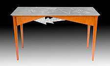 Cherry Triangles by Evy Rogers (Wood & Aluminum Console Table)