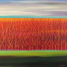 Trees Aglow by Mary Johnston (Oil Painting)