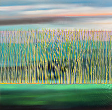 Reeds Underwater #15 by Mary Johnston (Oil Painting)