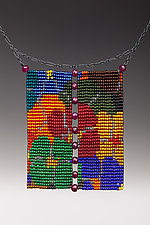 Loom Work Necklace with Rubies: California Dream by Julie Long Gallegos (Beaded Necklace)