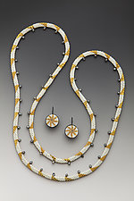 Aegean Wave Necklace and Earrings Set by Julie Long Gallegos (Beaded Jewelry)