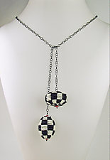 Beaded Viennese Lariat by Julie Long Gallegos (Beaded Necklace)