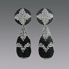 Chrysler Building Earrings by Julie Long Gallegos (Beaded Earrings)