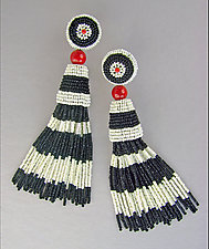 Miro Beaded Earrings by Julie Long Gallegos (Beaded Earrings)
