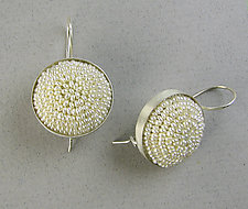 Seed Pearl Dome Earrings by Julie Long Gallegos (Beaded Earrings)