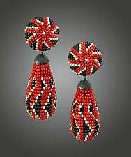 Holiday Beaded Earrings by Julie Long Gallegos (Beaded Earrings)
