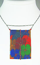 California Dream with Rubies by Julie Long Gallegos (Beaded Necklace)