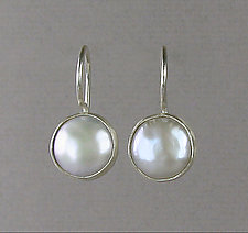 Basic Pearl Drops in Silver by Julie Long Gallegos (Silver & Pearl Earrings)