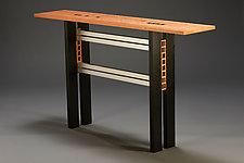 Ebony Squared by Carol Jackson (Wood Console Table)