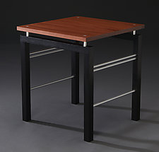 Floating Square by Carol Jackson (Wood & Aluminum Side Table)