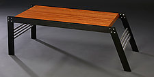 One Fourteen by Carol Jackson (Wood & Aluminum Coffee Table)